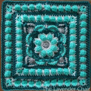 Lotus Flower Mandala Square Crochet Pattern