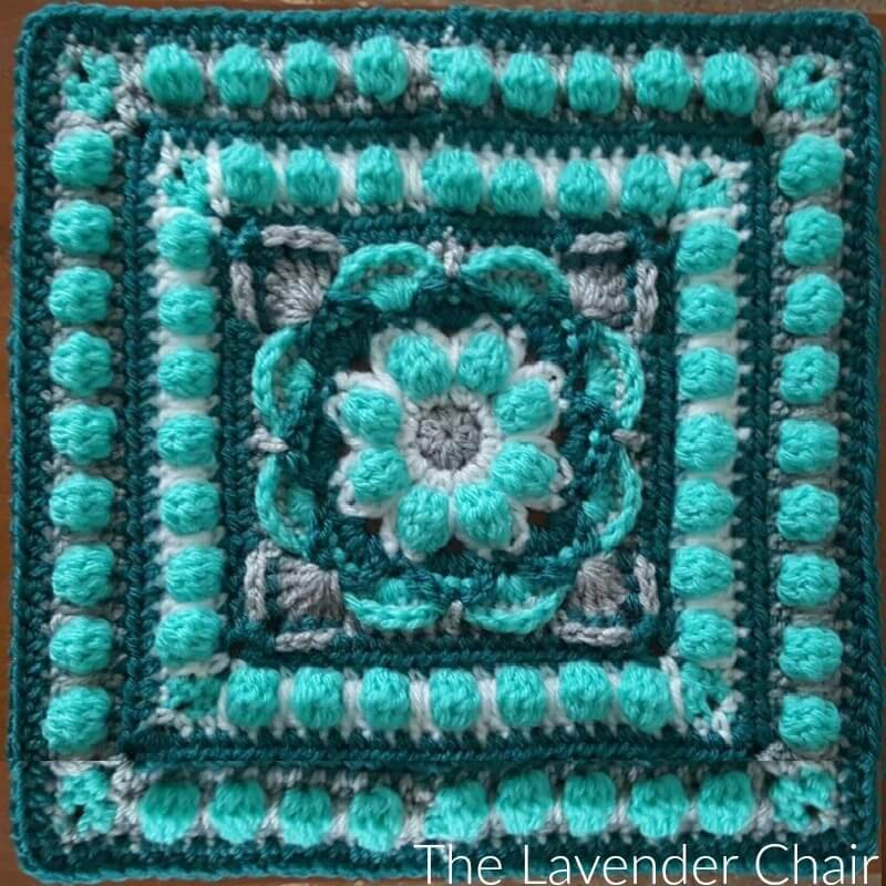 Lotus Flower Mandala Square Crochet Pattern The Lavender Chair