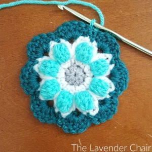 Lotus Flower Mandala Square Crochet Pattern The Lavender Chair