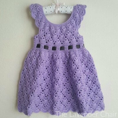 Vintage Rounded Yoke Dress Crochet Pattern The Lavender Chair