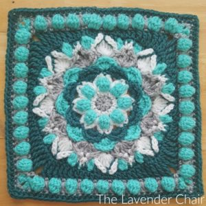 Cascading Dahlia Mandala Square Crochet Pattern