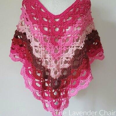 Gemstone Lace Poncho (Adult) Crochet Pattern