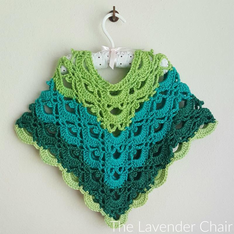 Gemstone Lace Poncho Toddlerchild Crochet Pattern The Lavender