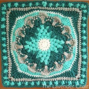 Wallflower Mandala Square Crochet Pattern