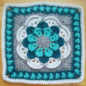Cascading Daisy Mandala Square Crochet Pattern