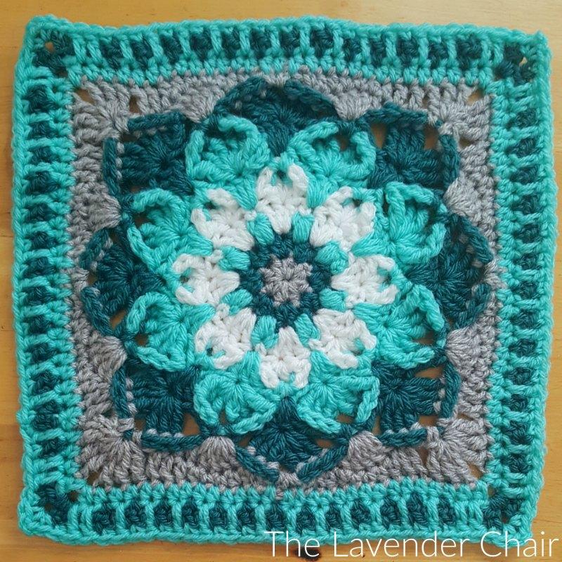 Kaleidoscope Lily Mandala Square Crochet Pattern