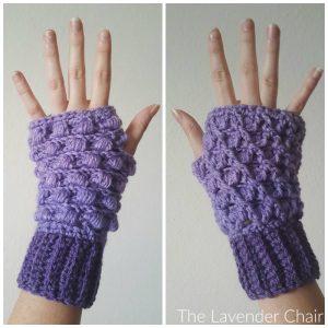 Reversible Lily's Fingerless Gloves Crochet Pattern