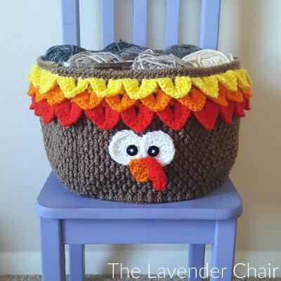 Turkey Yarn Basket Crochet Pattern