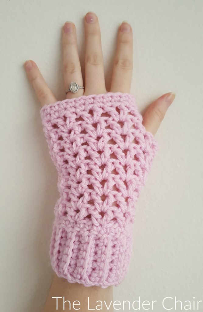 Valeries Fingerless Gloves Crochet Pattern The Lavender Chair