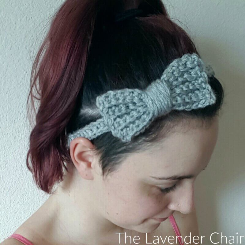 Super Simple Bow Headband Crochet Pattern Infant Adult The