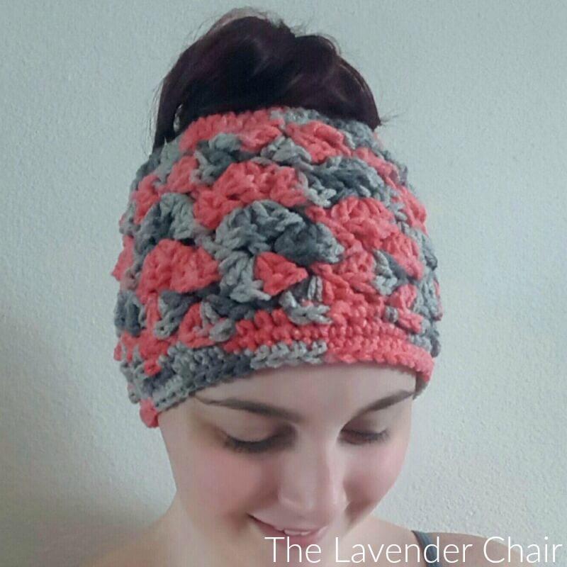 Shelby's Messy Bun Beanie Crochet Pattern