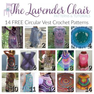 14 FREE Circular Vest Crochet Patterns