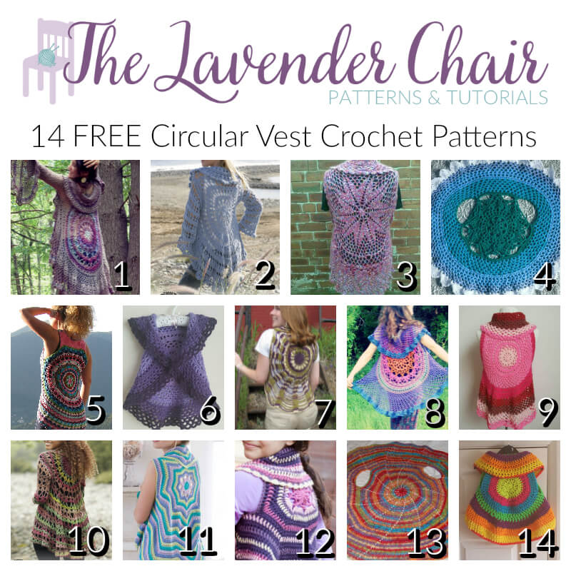 14 Free Circular Vest Crochet Patterns The Lavender Chair