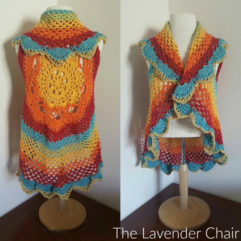 Starburst Mandala Circular Vest Cal The Lavender Chair
