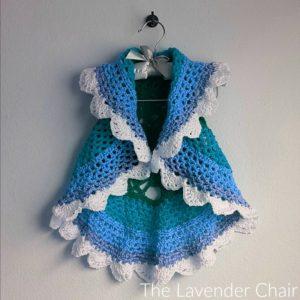 Starburst Mandala Circular Vest Kids Crochet Pattern The Lavender