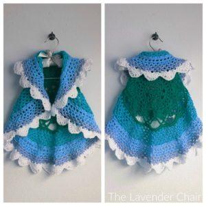 Starburst Mandala Circular Vest Kids Crochet Pattern