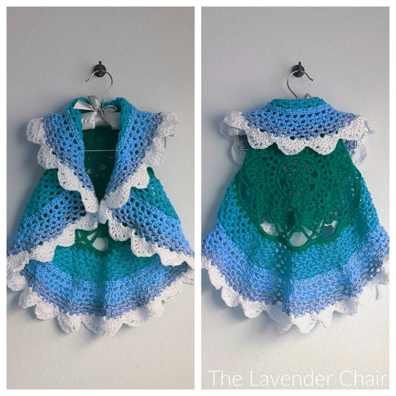 Starburst Mandala Circular Vest Kids Crochet Pattern - The Lavender ...