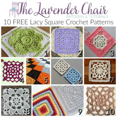 10 FREE Lacy Crochet Square Patterns