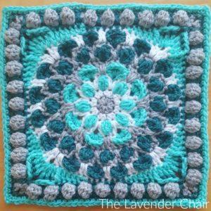 Cascading Mum Mandala Square Crochet Pattern