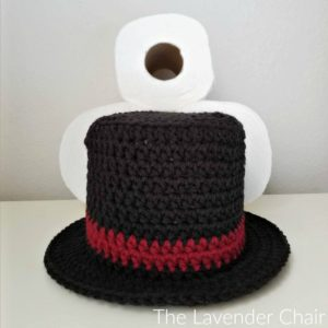 Snowman Top Hat Toilet Paper Roll Cover Crochet Pattern