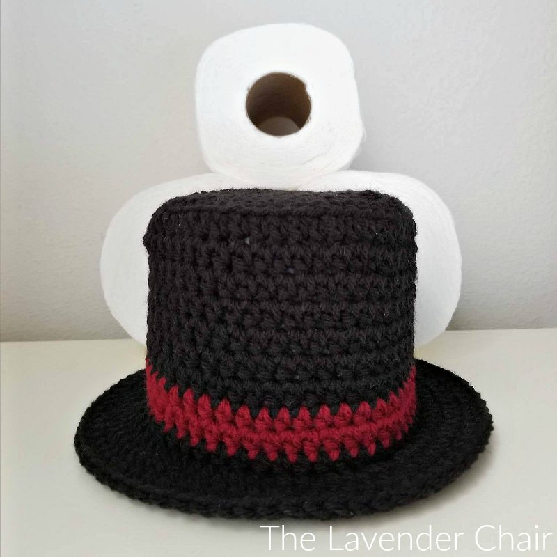 Snowman Top Hat Toilet Paper Roll Cover Crochet Pattern The