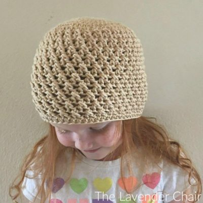 Crossed Double Crochet Beanie (Infant – Child) Crochet Pattern