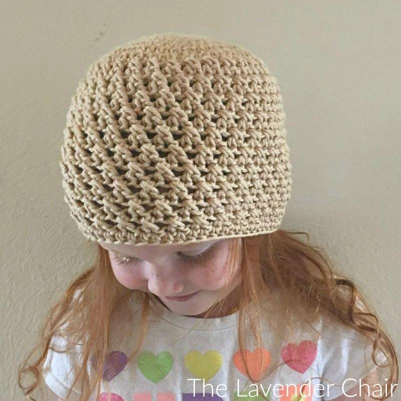Crossed Double Crochet Beanie (Infant – Child) Crochet Pattern