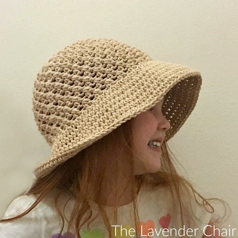 Crossed Double Sun Hat Infant Child Crochet Pattern The