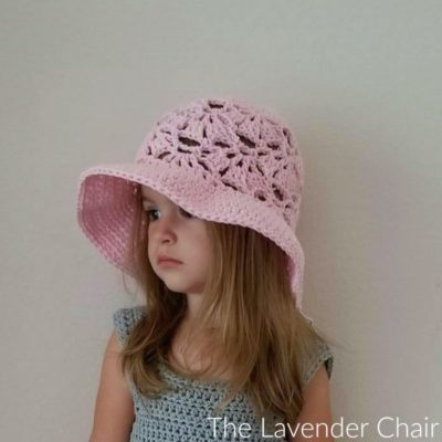 Falling Fans Sun Hat Infant Child Crochet Pattern The Lavender