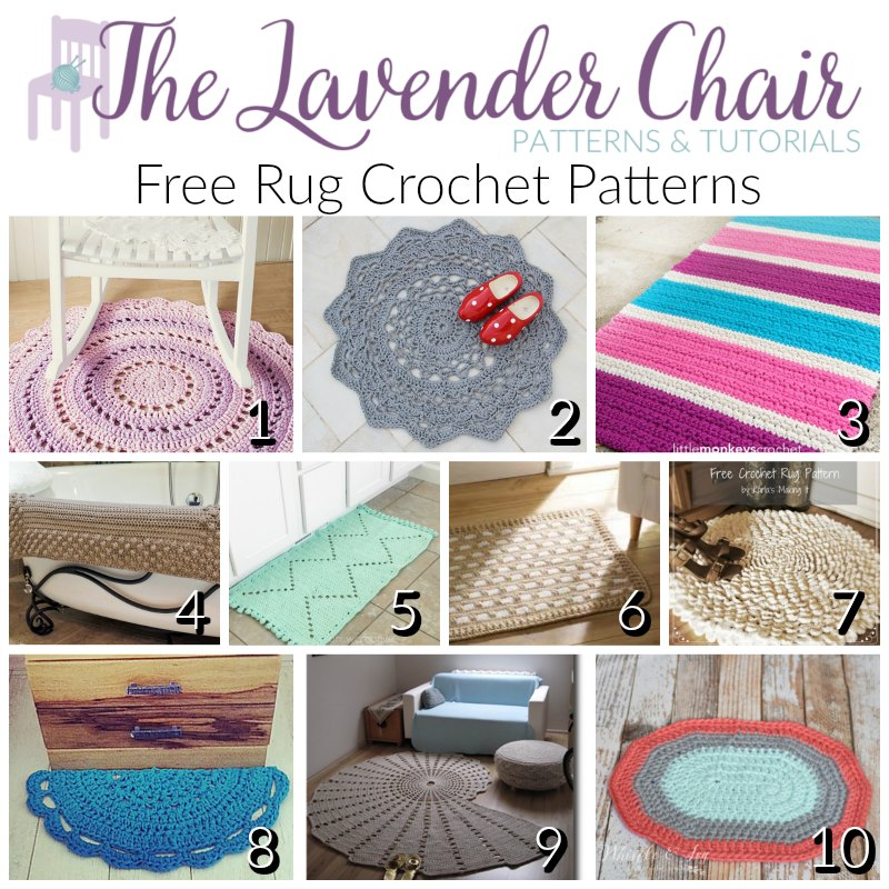 Free Rug Crochet Patterns The Lavender Chair