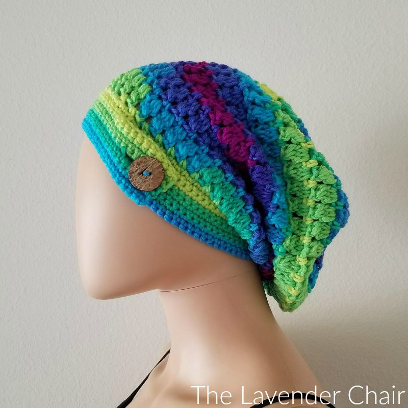 Candaces Cluster Slouchy Beanie Crochet Pattern The Lavender Chair