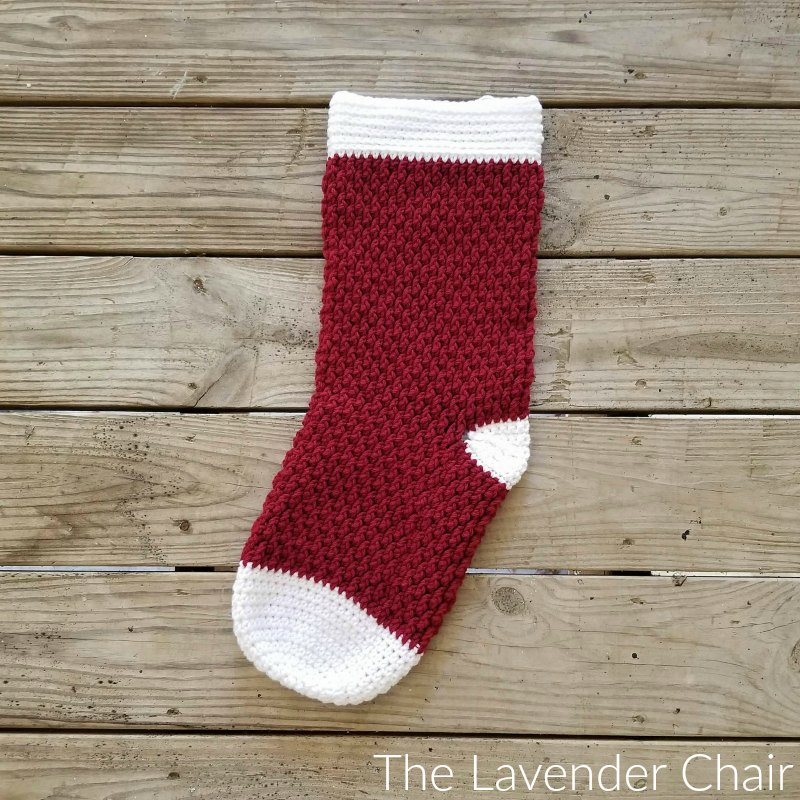 Brickwork Stocking Crochet Pattern The Lavender Chair