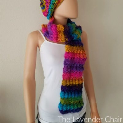 Crossed Bobble Scarf Crochet Pattern