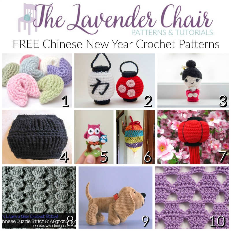 FREE Chinese New Year Crochet Patterns - The Lavender Chair