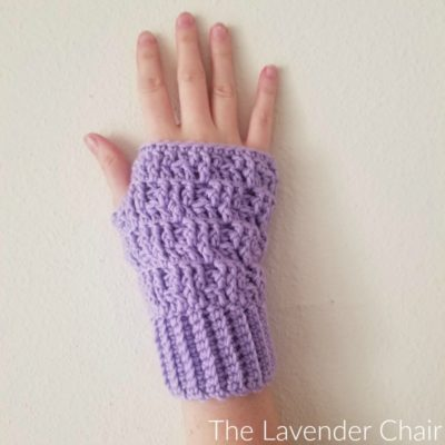 Textured Spike Stitch Fingerless Gloves Crochet Pattern