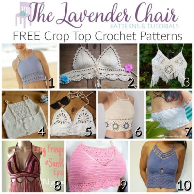 Free Crop Top Crochet Patterns The Lavender Chair