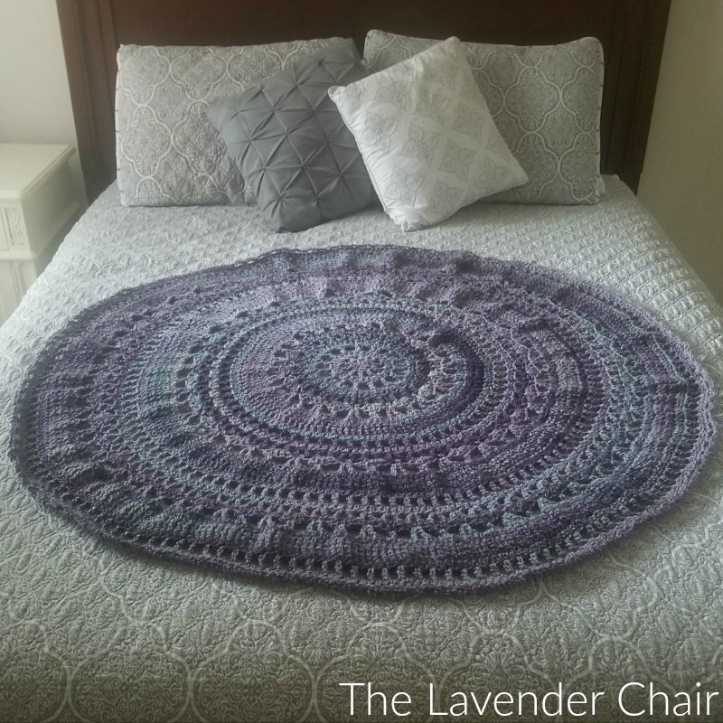 Wagon Wheel Circular Blanket Crochet Pattern