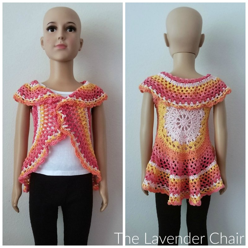 Chrysanthemum Circular Vest (Kids) Crochet Pattern