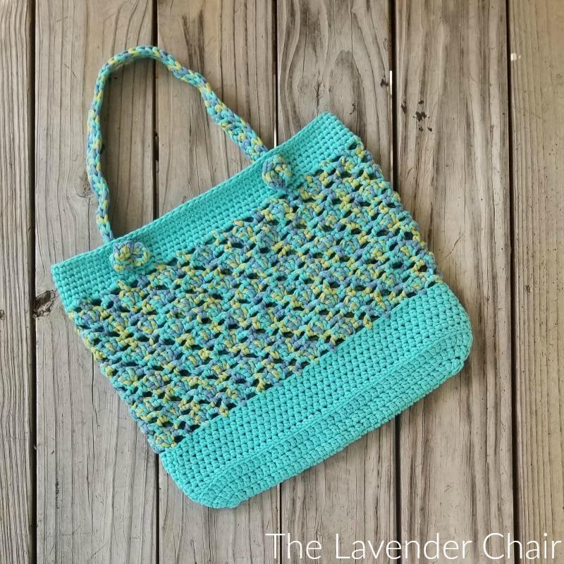 Elegant Meshy Shells Market Tote Crochet Pattern