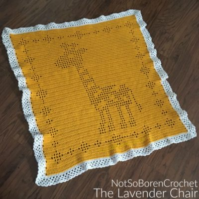 Filet Giraffe Blanket Crochet Pattern