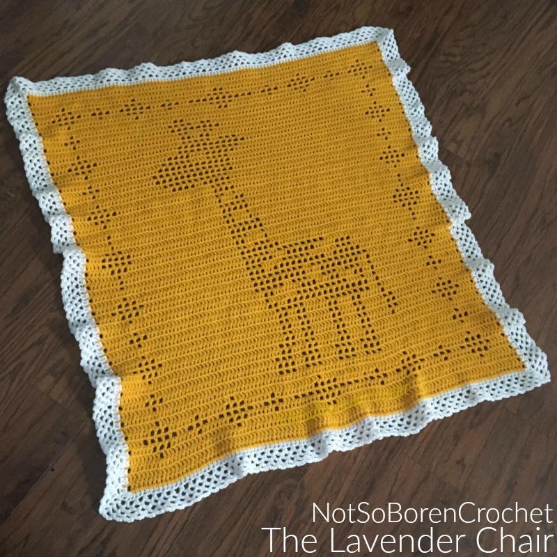 Filet Giraffe Blanket Crochet Pattern The Lavender Chair
