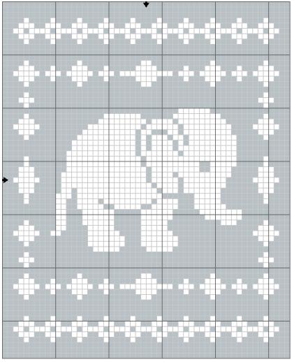 Filet Elephant Blanket Crochet Pattern The Lavender Chair