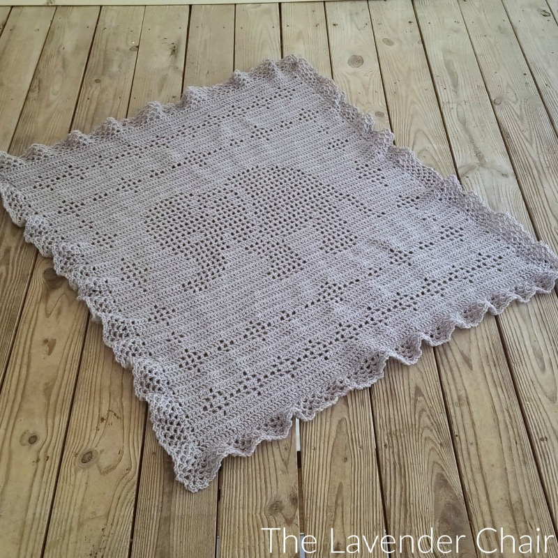 Filet Elephant Blanket - Free Crochet Pattern - The Lavender Chair