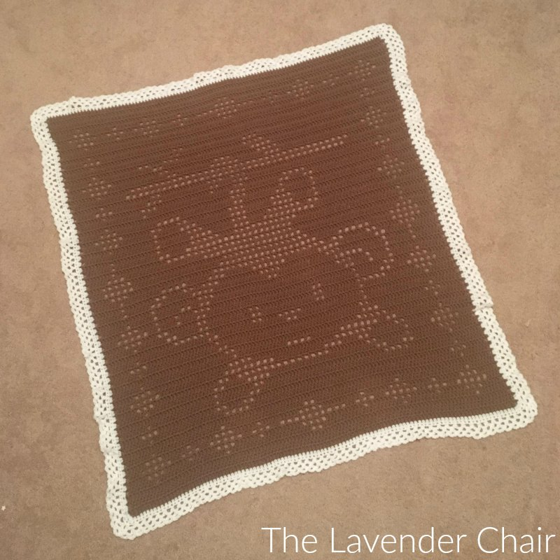 Filet Monkey Blanket - Free Crochet Pattern  The Lavender Chair