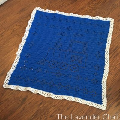 Filet Train Blanket Crochet Pattern
