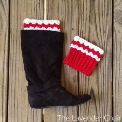 Peppermint Boot Cuffs Crochet Pattern