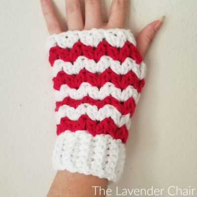 Peppermint Fingerless Gloves Crochet Pattern