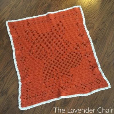Filet Fox Blanket Crochet Pattern