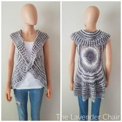 Valerie's Puff Stitch Mandala Vest Crochet Pattern