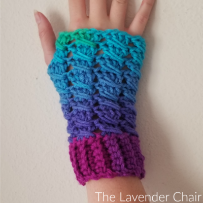Matilda Fingerless Gloves Crochet Pattern The Lavender Chair